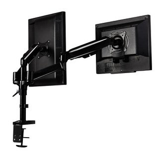 Costway Dual LCD Monitor Spring Arms TV LCD Bracket Desk Mount Stand 2 Screens Up To 27''
