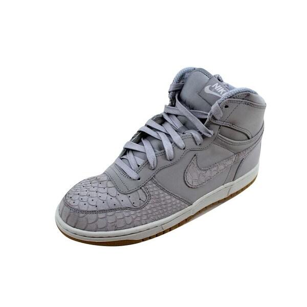 bfcb9e915463 Shop Nike Men s Big Nike High Lux Wolf Grey Wolf Grey-Pure Platinum ...