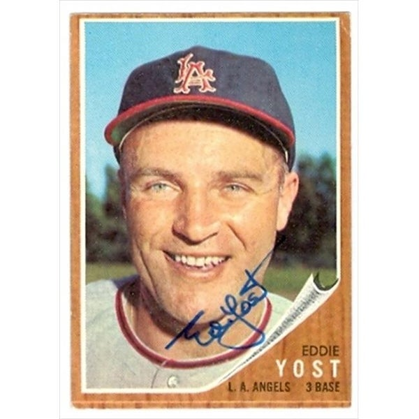 Shop Ed Yost Autographed Baseball Card Los Angeles Angels 1962 Topps No