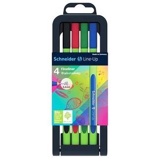 Schneider Lineup Fineliner Pens 4Pk
