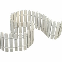 "18 Pcs of 2"" White Fences, 18"" long x 1/8"" thick"
