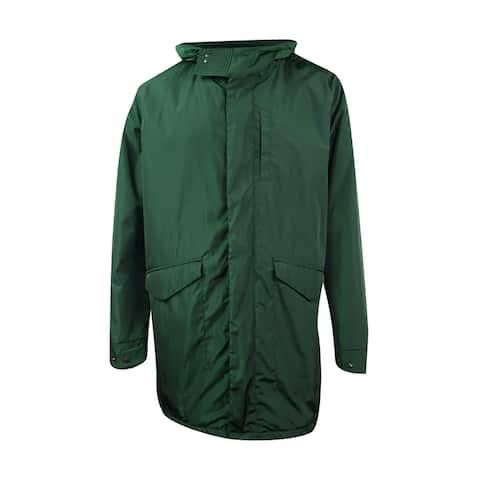 Nautica Men's Concealed-Placket Tech Hooded Jacket (XL, Kelp Seas) - Kelp Seas - XL