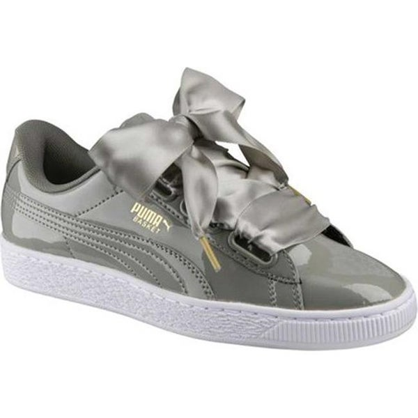 Shop PUMA Women's Basket Heart Patent Sneaker Rock Ridge ...