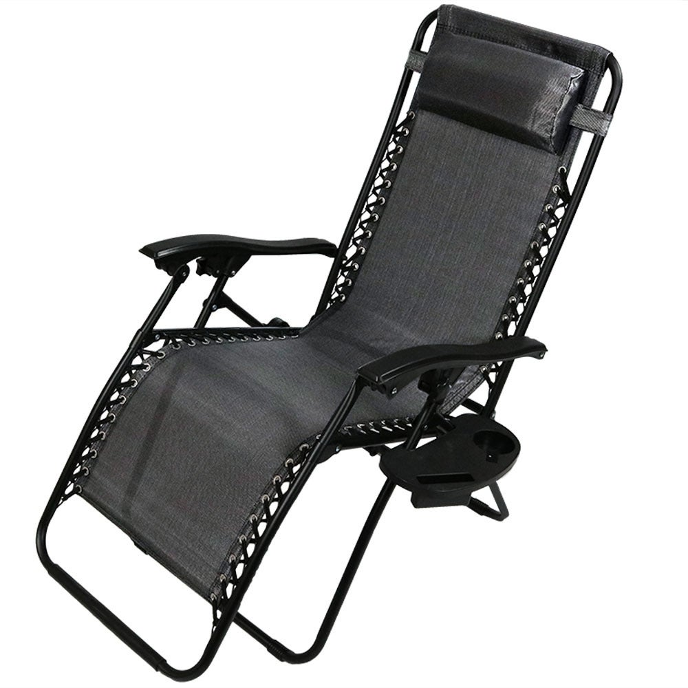 Sunnydaze Zero Gravity Lounge Chair with Pillow and Cup Holder, Multiple Colors Available - Thumbnail 87