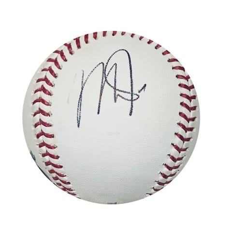 Mike Trout Los Angeles Angels Autographed MLB Authentic Signed Baseball Side Panel PSA DNA COA With