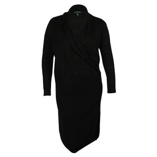 Ralph Lauren Women's Shawl Collar Wool Dress - 1x