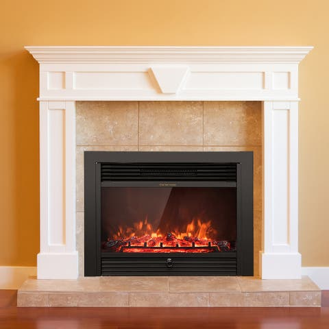 750-1500W Electric Fireplace Heater Adjustable Temperature &Luminance