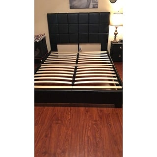 Porch & Den Guadalupe Street Black Upholstered Queen-size Platform Bed