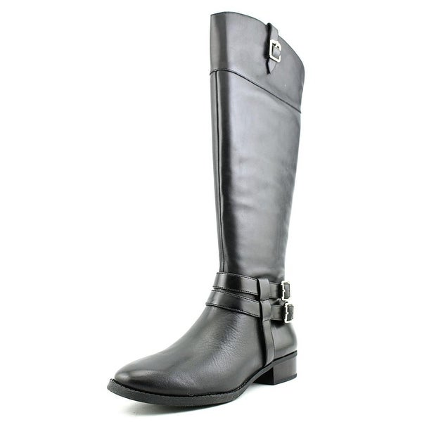 INC International Concepts Fahnee Wide Calf   Leather  Knee High Boot