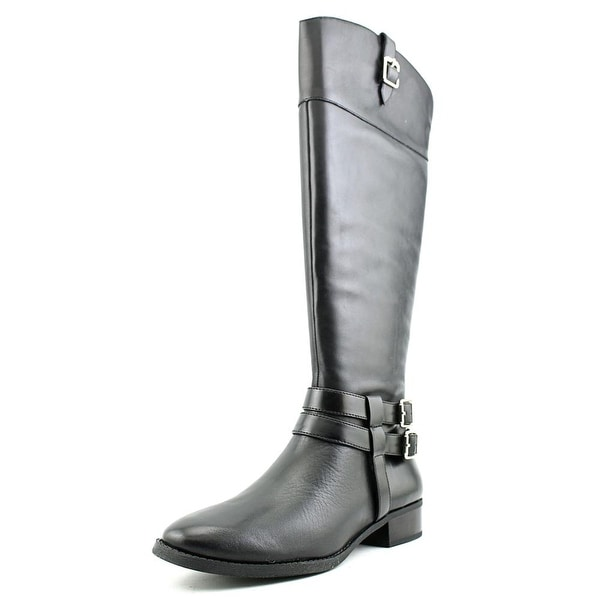 INC International Concepts Fahnee Wide Calf W Leather Knee High Boot