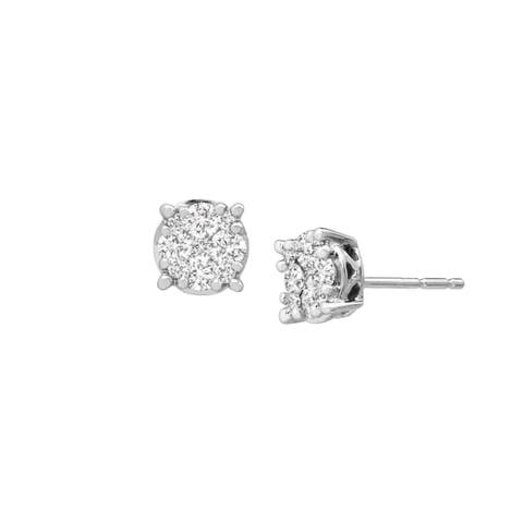 1/2 ct Diamond Composite Stud Earrings in 10K White Gold