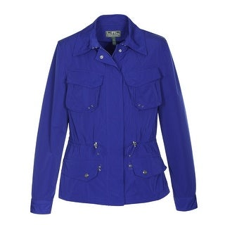 Ralph Lauren Active Womens Anorak Jacket Royal Blue Solid Small S