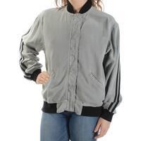 HUDSON Womens Gray Bomber Jacket  Size: M