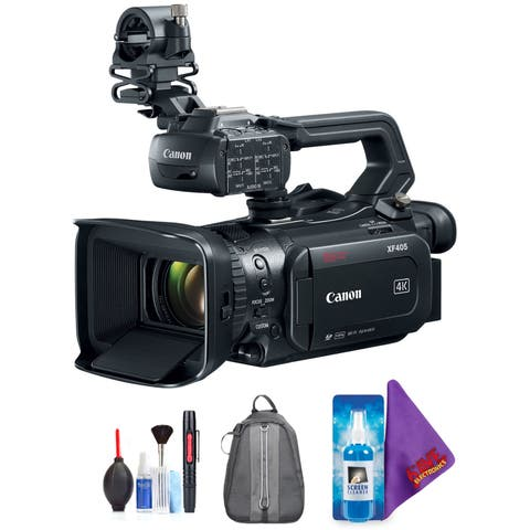 Canon XF405 4K UHD 60P Camcorder with Dual Pixel Autofocus + Pro Accessories Bundle (Certified Refurbished)