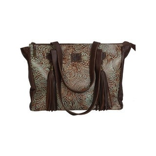 StS Ranchwear Western Handbag Womens Tooled Handbag Tassels STS33745 - brown turquoise - One size