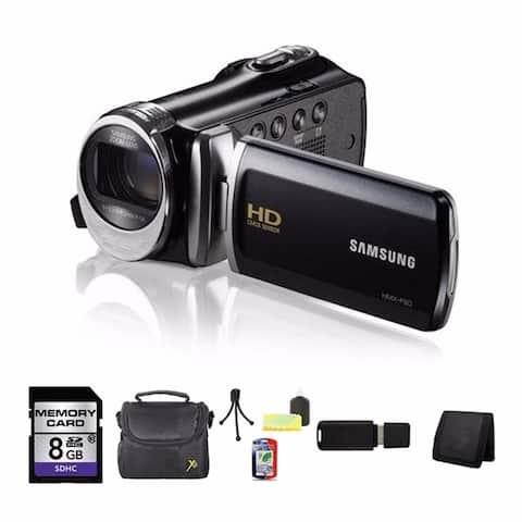 Samsung HMX-F90 High Definition Black Camcorder 8GB Bundle