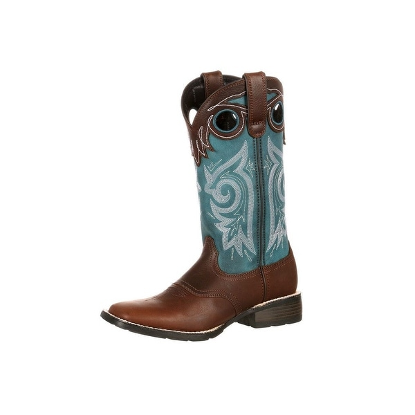 Durango Western Boots Womens Mustang Pull On Saddle Brown