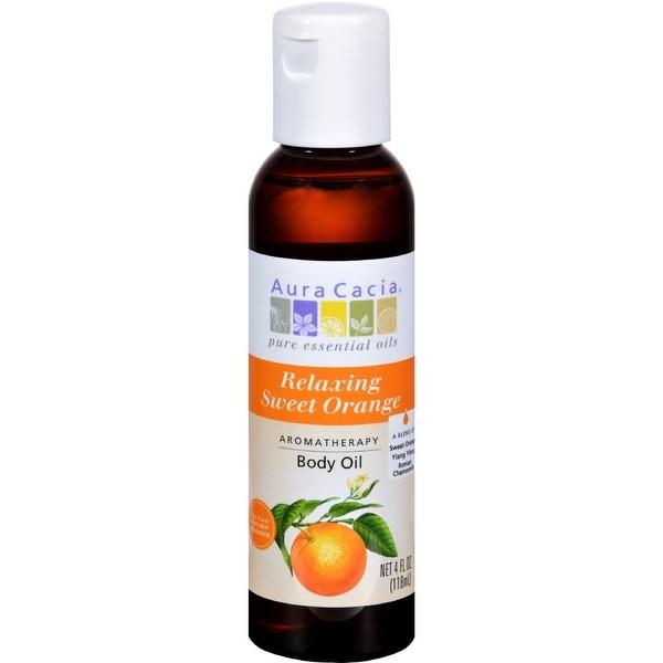 Aura Cacia Aromatherapy Body Oil - Relaxation - Tangy Citrus Aroma - 4 fl oz