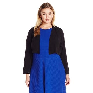 Calvin Klein Plus Size Long Sleeve Open Front Shrug Cardigan - 2x