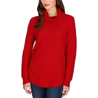 Lucky Brand Womens Turtleneck Sweater Knit Ribbed Trim