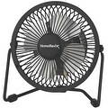 "Homebasix CZHV4RSB-BK 1-Speed Mini Fan, Black, 4"" - Thumbnail 0"