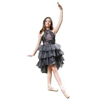 Ooh! La La! Couture Girls Black Pink Ruffle Tiered Chloe Tutu Dress