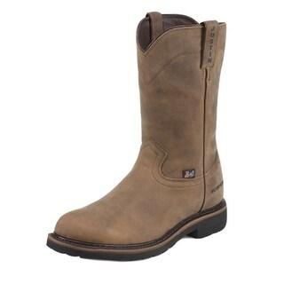 Justin Work Boots Mens Worker II Wyoming Western Waterproof Tan WK4960