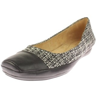 Naturalizer Womens Vamp Flats Woven Toe Cap