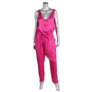 Lauren Ralph Lauren Womens Scoop Neck Sleeveless Jumpsuit - 10