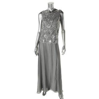 Patra Womens Sequined Sleeveless Formal Dress - 14