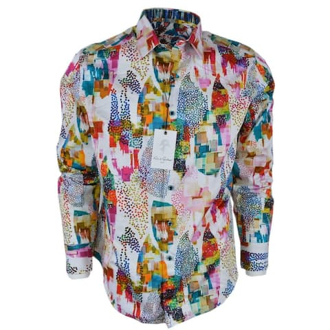 Robert Graham AVIAN Abstract Print Cotton Classic Fit Sports Shirt
