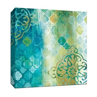 "PTM Images 9-147509  PTM Canvas Collection 12"" x 12"" - ""Teal Impression II"" Giclee Patterns and Designs Art Print on Canvas"