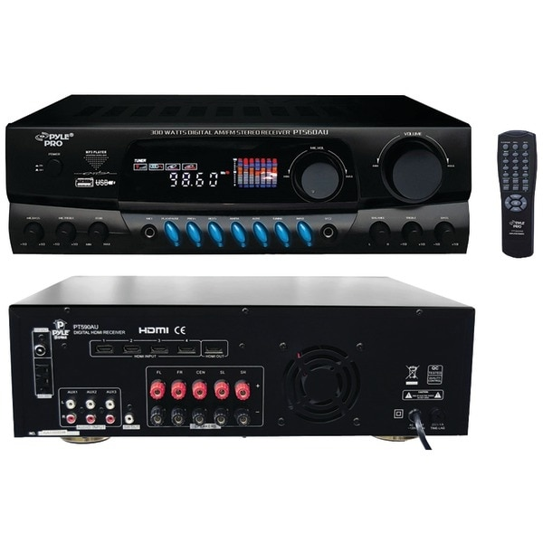 PYLE PRO PT560AU 300-Watt Digital USB Stereo Receiver