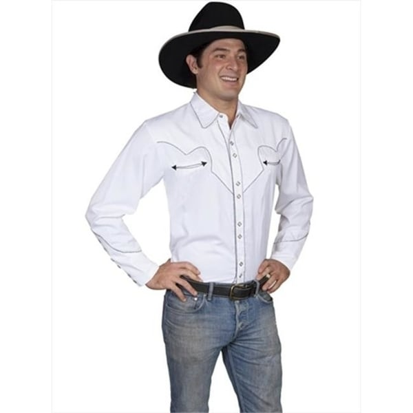 341f79fa5 Shop Scully P-726-Wht-Xxl Mens Western Shirt - White 2 Extra Large - Free  Shipping Today - Overstock - 27128446