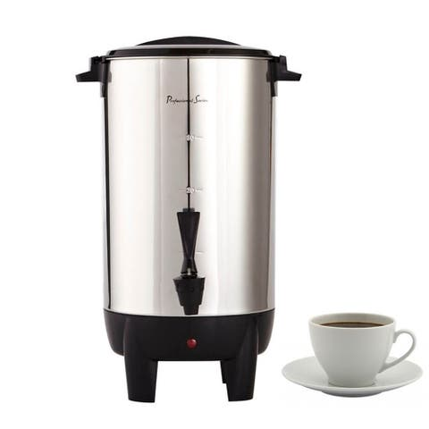 Professional Series Electric 30-Cup Coffee Urn Stainless Steel
