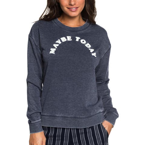 Roxy Womens All At Sea B Sweatshirt Embroidered Graphic - S