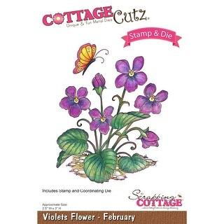 Cottagecutz Stamp & Die Set-Violets - February
