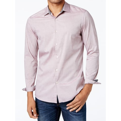 5ab609b1e857 SALE ends in 6 hours. Michael Kors Mens Button Down Slim Fit Printed Shirt