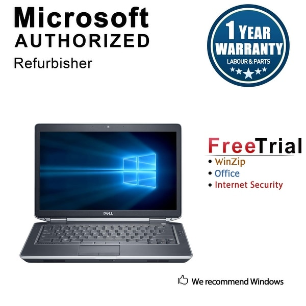 "Refurbished Dell Latitude E6430S 14.0"" Laptop Intel Core i5 3320M 2.6G 12G DDR3 320G DVD Win 10 Pro 1 Year Warranty - Black"