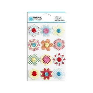Martha Stewart Sticker Stitched Button Flower