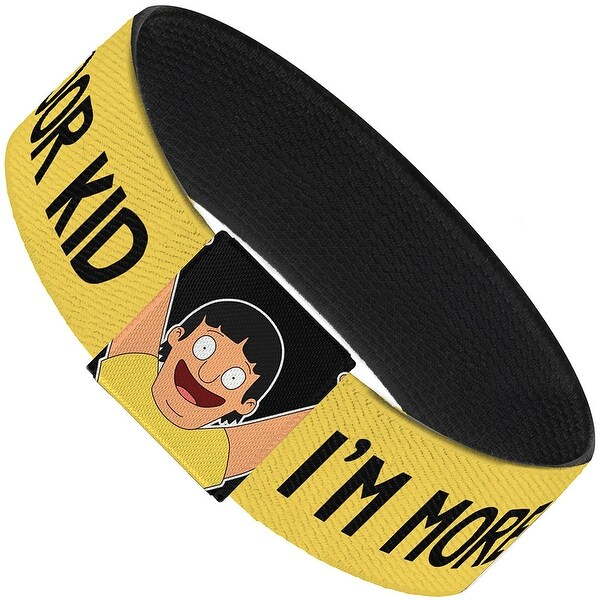 Gene I'M More Of An Indoor Kid Yellow Black Elastic Bracelet