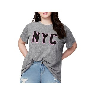 Rachel Rachel Roy Womens Plus Graphic T-Shirt Graphic Short Sleeves