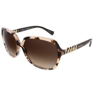 Coach HC8155Q 532213 Nude Tortoise/Dark Brown Square sunglasses