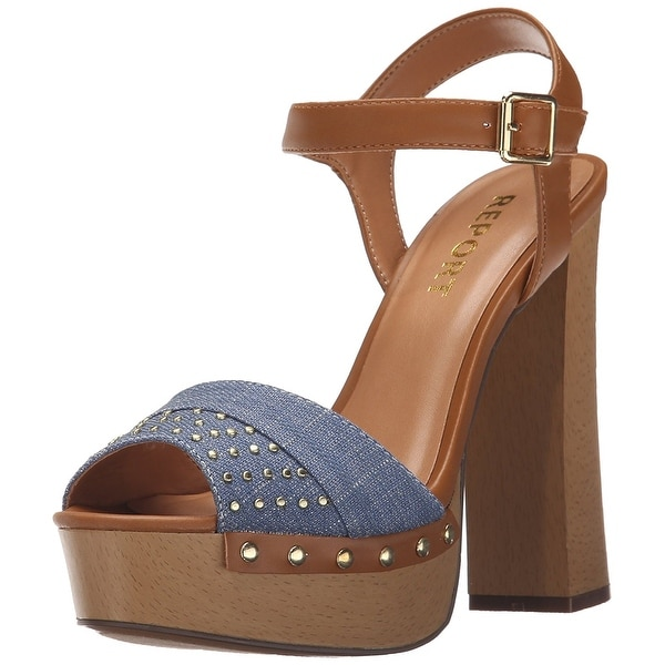 Report Womens Meeshka Open Toe Casual Ankle Strap Sandals