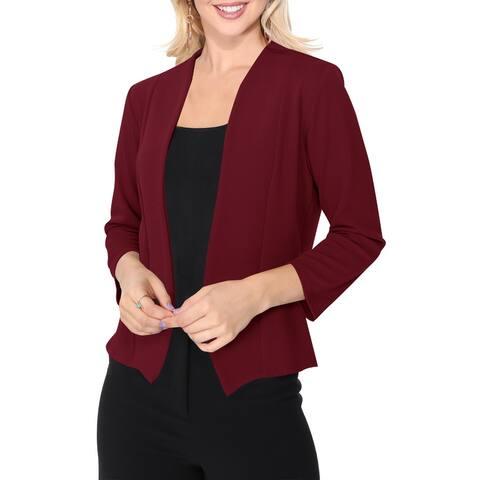 Women's Solid Long Sleeves Blazer Jacket