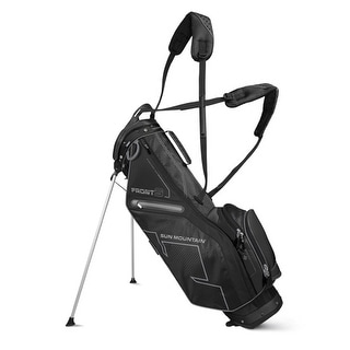 New Sun Mountain Front 9 Left Handed Stand Bag - Black - CLOSEOUT