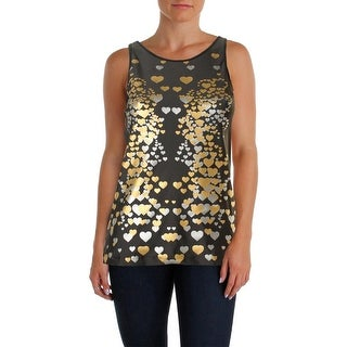 Rowley Fitness Womens Tank Top Metallic Graphic