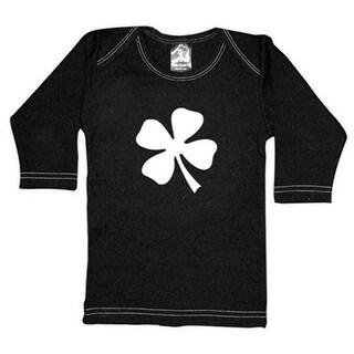 Rebel Ink Baby 321ls1824 Clover- 18-24 Month Black Long Sleeve Tee