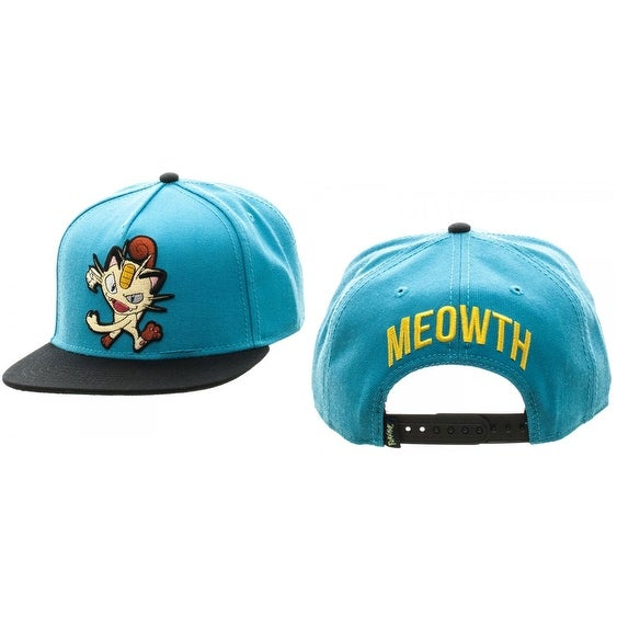 1a2ff5fa4d6faa Shop Pokemon Meowth Color Block Snapback - Free Shipping On Orders Over $45  - Overstock - 18680718
