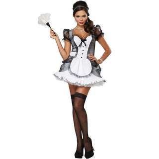 California Costumes Luxe French Maid Adult Costume - Black/White